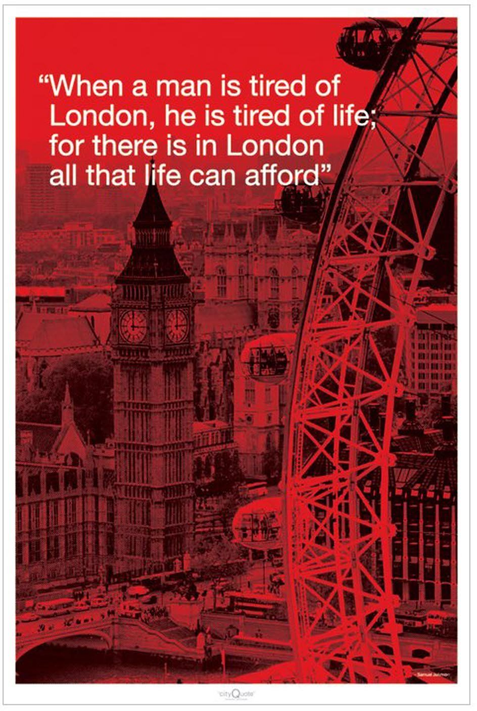 Empire 330574 plakat miasto cytat Londyn 61 x 91,5 cm