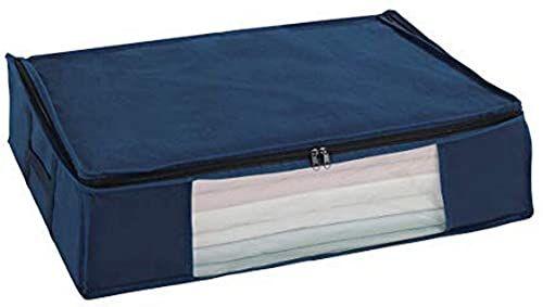 WENKO Próżnia Soft Box Air M - zajmuje mało miejsca, polipropylen, 65 x 15 x 50 cm, niebieska