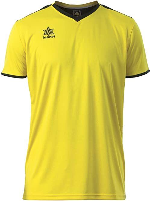 Luanvi Męski T-shirt Match z krótkimi rękawami. żółty żółty XS