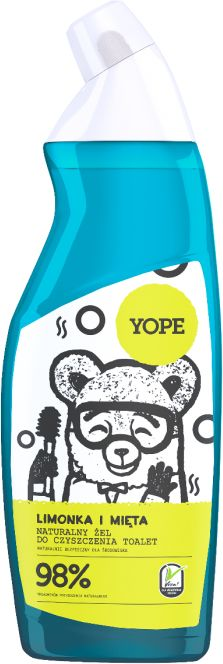 Yope Limonka i Mięta Naturalny Żel do Czyszczenia Toalet 750 ml