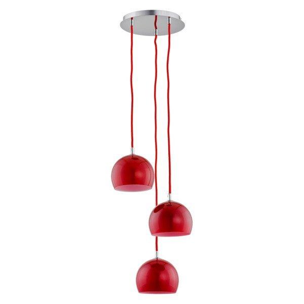 Lampa wisząca zwis WATERFALL czerwona śr. 28cm