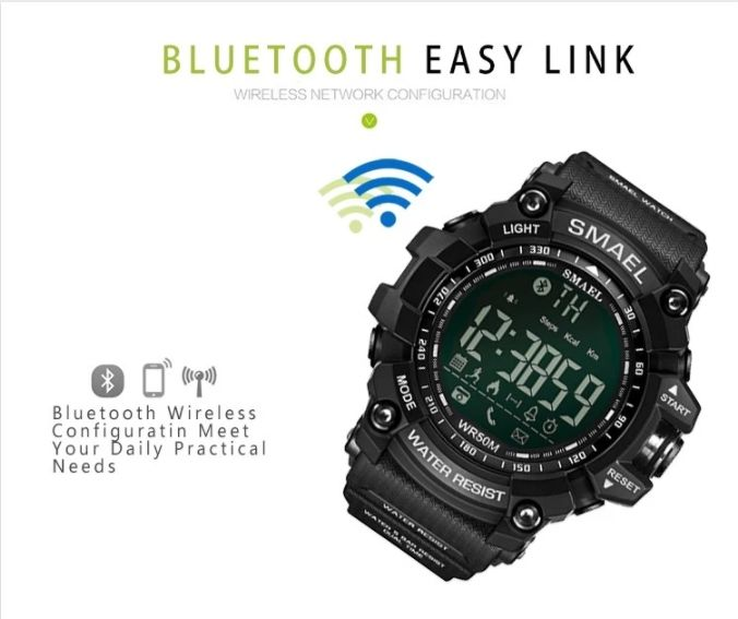 SMART WATCH PROF ZEGAREK MĘSKI WOJSKOWY MILITARNY BLUETOOTH ANDROID IOS 50M 1617LY HIT