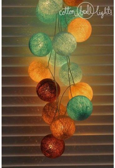 Kolorowe kulki LED kompozycja - Paradise Beach