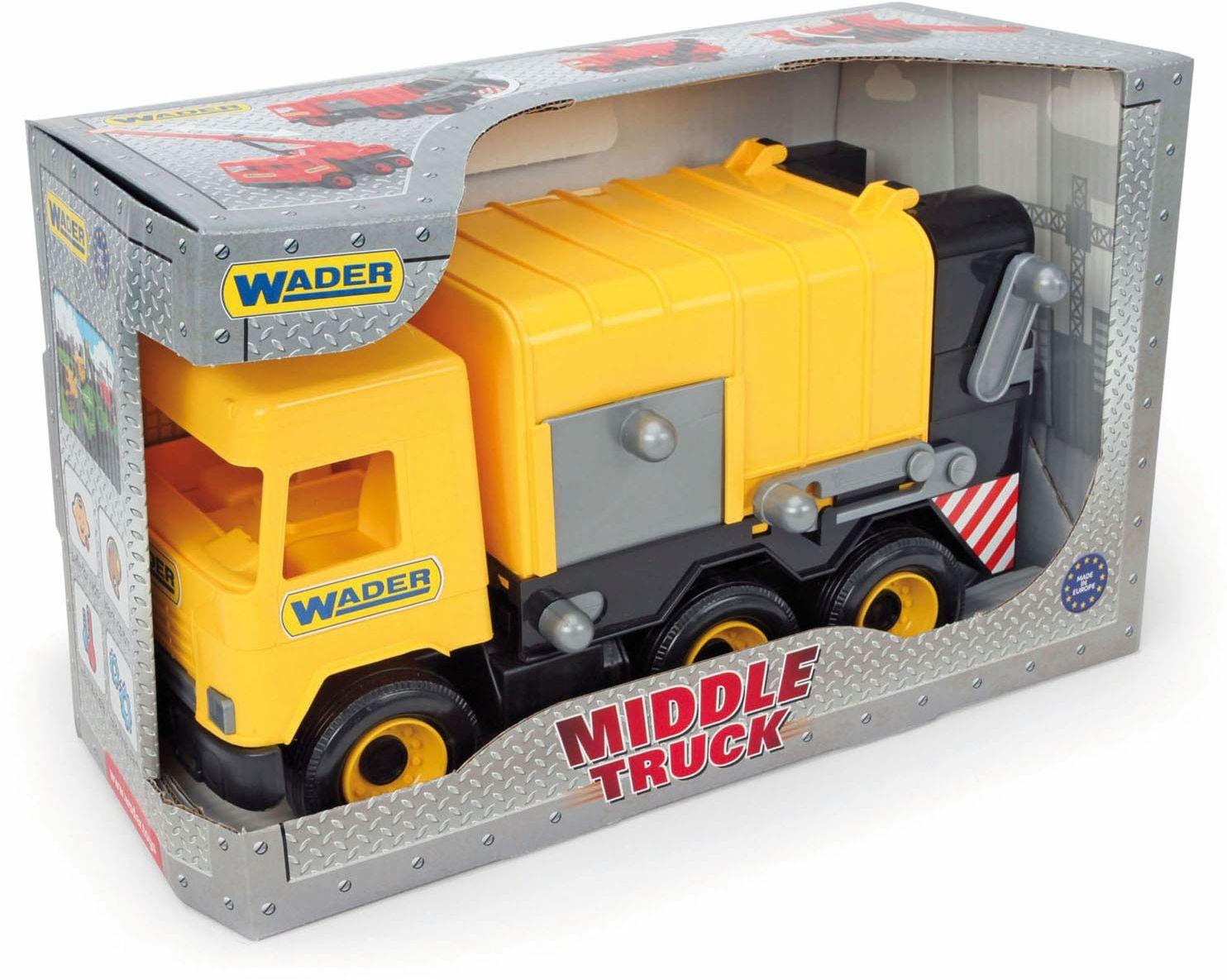 Middle Truck śmieciarka żółta w kartonie