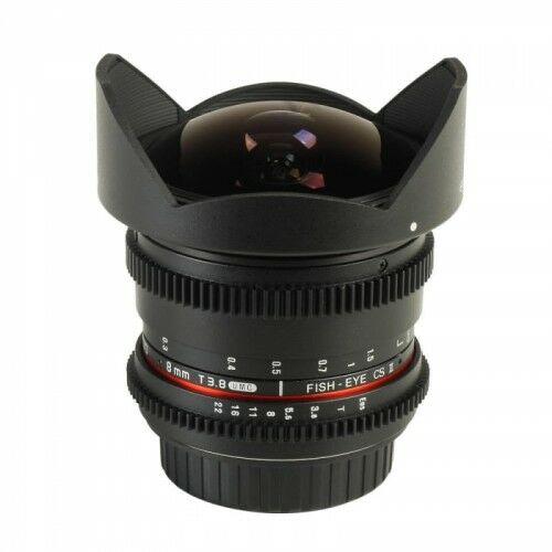 Samyang 8mm T3.8 Nikon VDSLR Fish-eye CSII