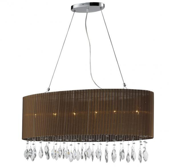 ŻARÓWKI LED GRATIS! Lampa wisząca Sidney AZ1839 AZzardo kryształowa oprawa w kolorze brązowym