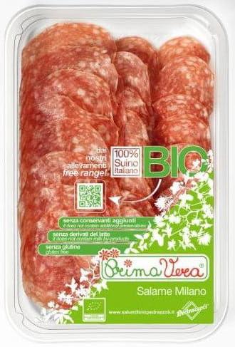 Salami milano plastry bezglutenowe bio 70 g - primavera