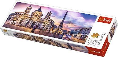 Puzzle 500 elementów Panorama - Piazza Navona, Rzym