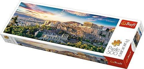 Puzzle 500 elementów Panorama - Akropol, Ateny