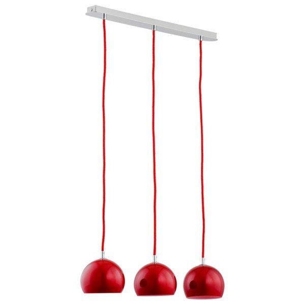 Lampa wisząca listwa WATERFALL czerwona szer. 50cm