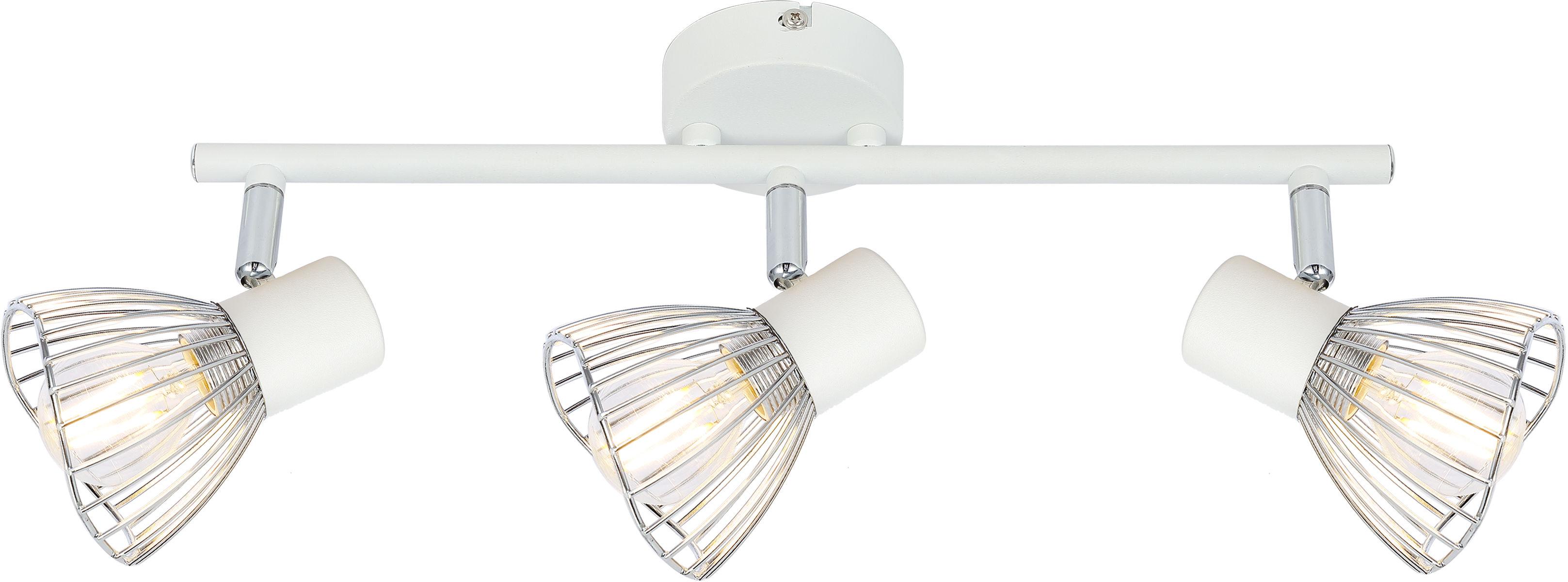 Candellux FLY 93-61973 listwa oświetleniowa biały+chrom regulacja klosza 3X40W E14 56cm