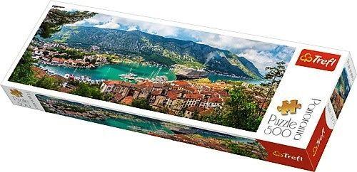 Puzzle 500 elementów Panorama - Kotor, Czarnogóra