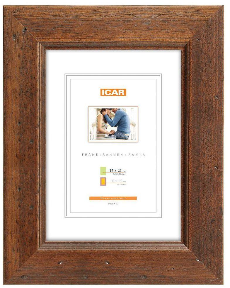 Ramka na zdjęcia Kora 15 x 21 cm brązowa drewniana