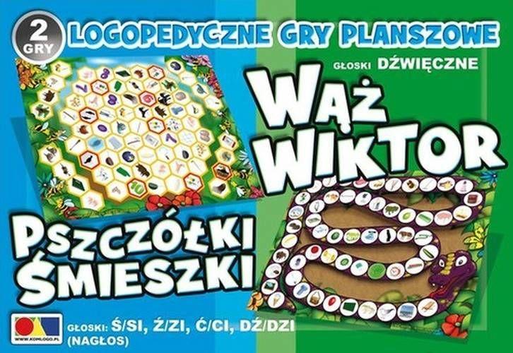 Gry logopedyczne Wąż Wiktor/Pszczółki Śmieszki - Komlogo