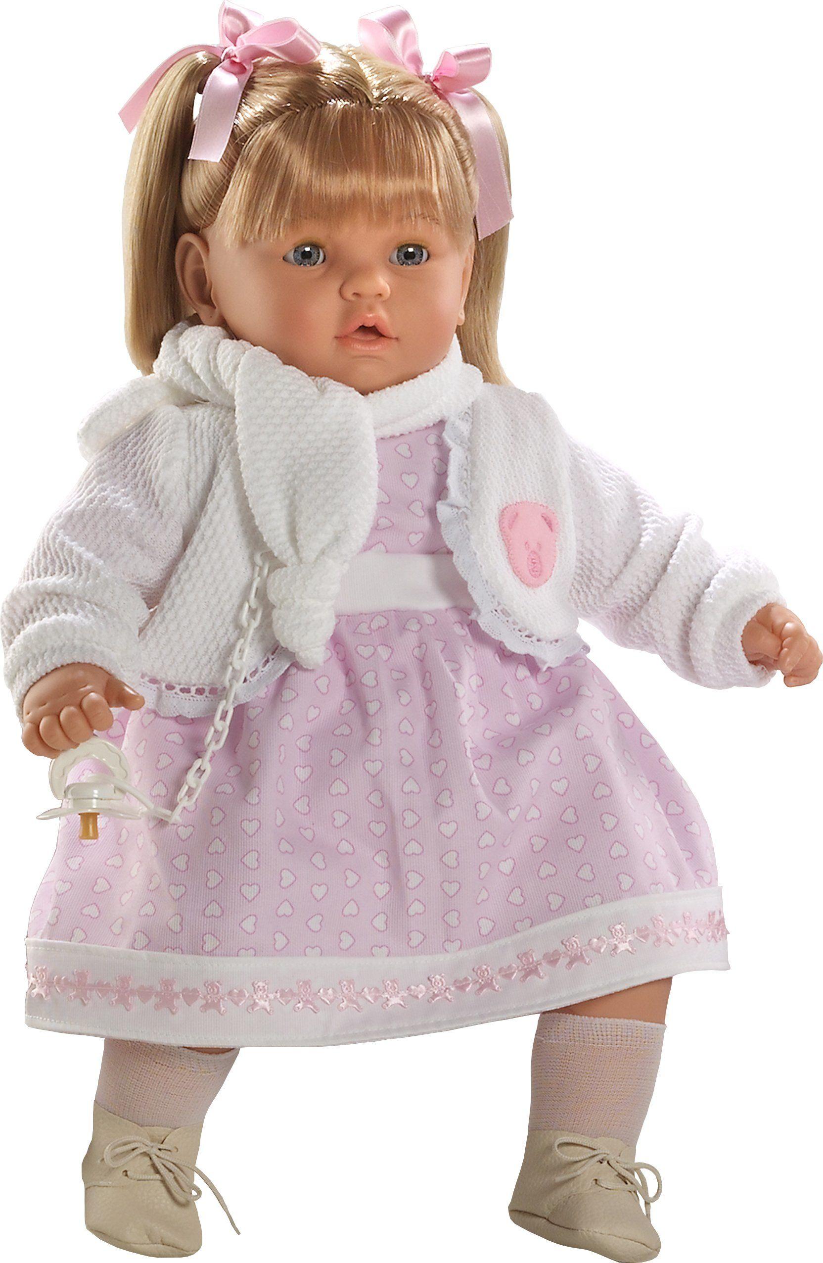 Berbesa 8034 Baby Dulzona lalka Cries to remove his smoczek, 62 cm, wielokolorowa