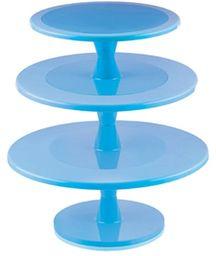 Silikomart 72.364.22.0065 Hula Up gramofon na ciasto plastikowy jasnoniebieski, 43 cm, bardzo duży