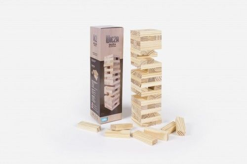 Wieża naturalna klocki drewniane Albi