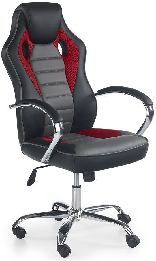 Fotel obrotowy Afton - czarny + popiel
