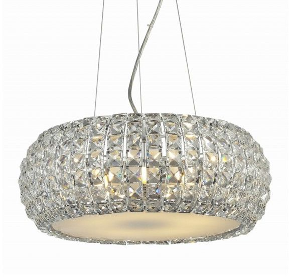 ŻARÓWKI LED GRATIS! Lampa wisząca Sophia 6 AZ0697 AZzardo kryształowa oprawa w kolorze chromu