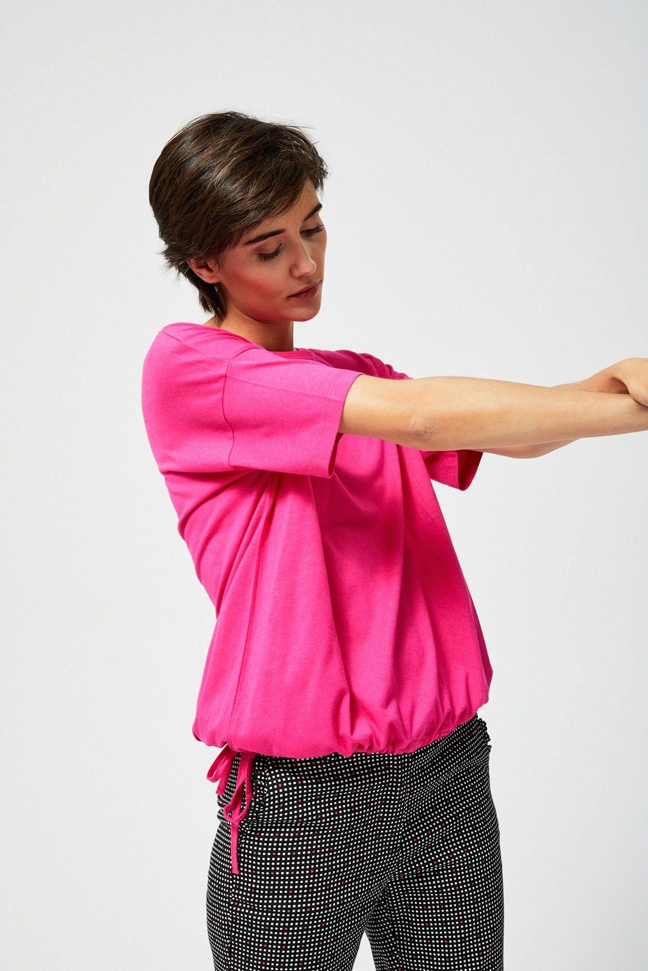 Koszulka oversize ze ściągaczem