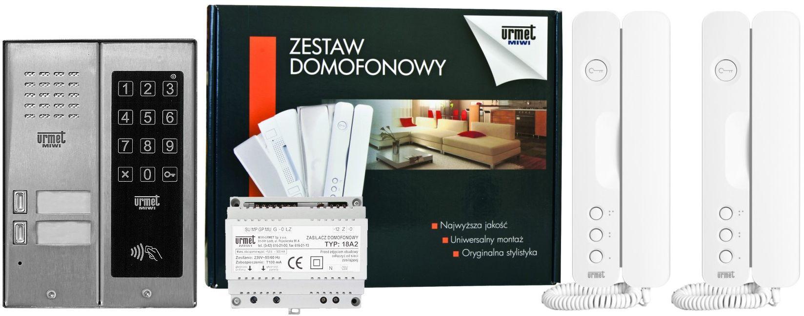 Zestaw domofonowy 5025/402-ZK-RF MIWI-URMET
