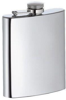 stalowa piersiówka, 0,2 l, 12,5 cm