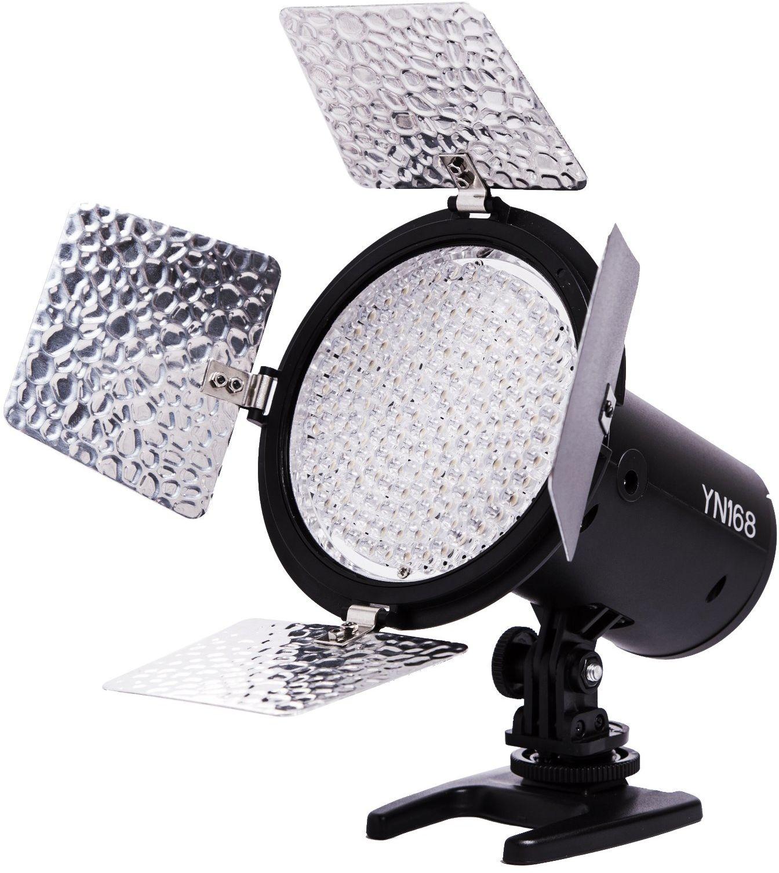 Yongnuo YN168  lampa LED do oświetlania zdjęć, z 4 metalowymi płytkami, 1500 lm, 5500 K), kolor: czarny