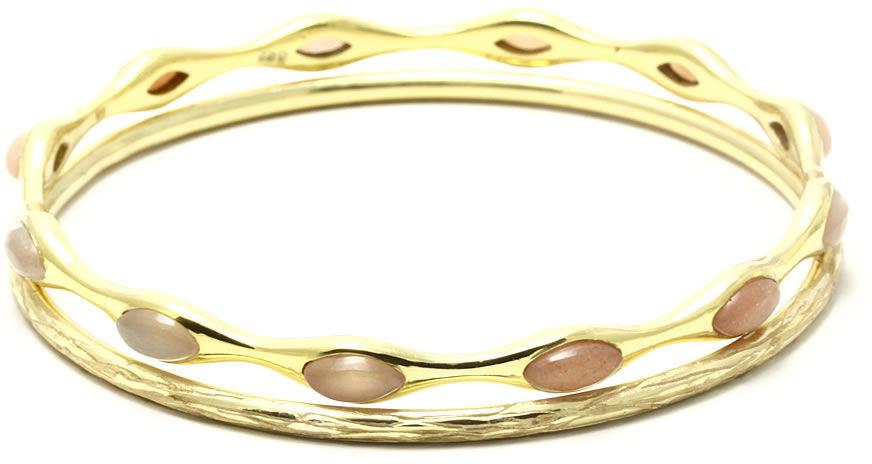 Kuźnia Srebra - Bransoletka srebrna, 19.5cm, Kamień Księżycowy, 25g, model
