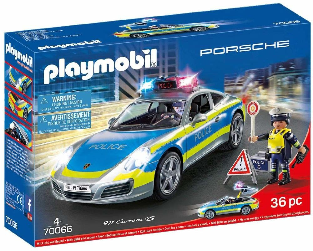 PLAYMOBIL Porsche 70066 Porsche 911 Carrera 4S Policja, od 4 lat
