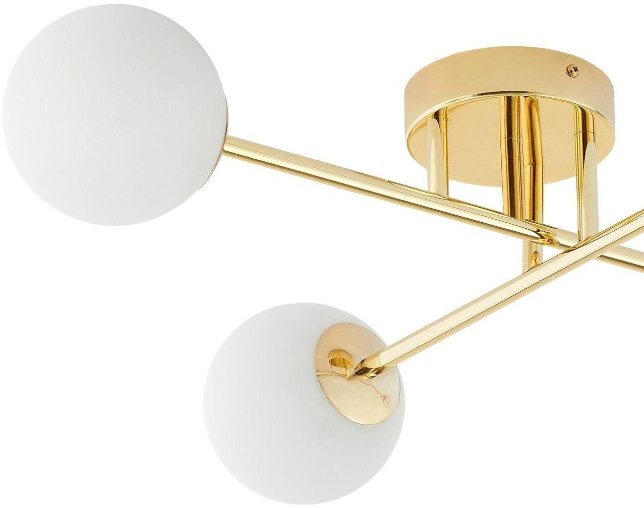 Plafon Astra 10771405 KASPA dekoracyjna oprawa sufitowa w kolorze złotym