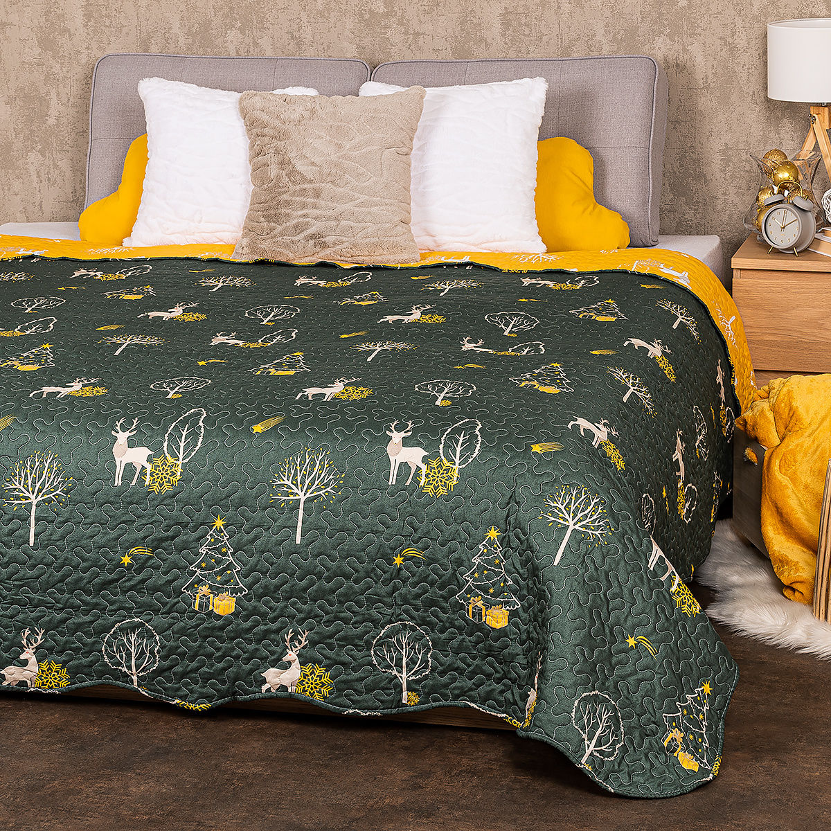 4Home Narzuta na łóżko Forest Dream, 220 x 240 cm