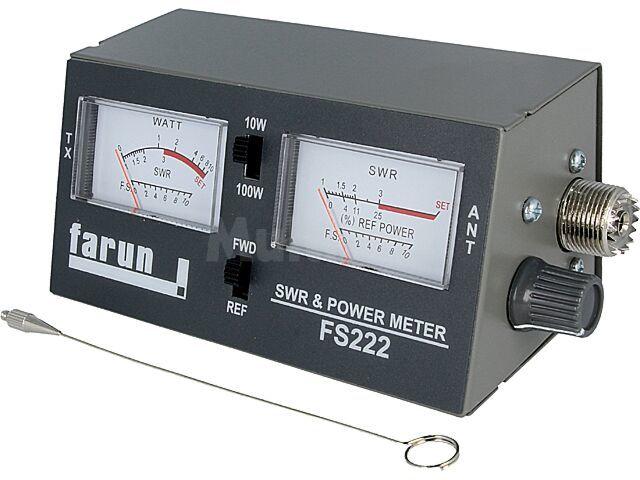 Miernik SWR FARUN FS222 Zakres: 3,5..150MHz 10W/100W