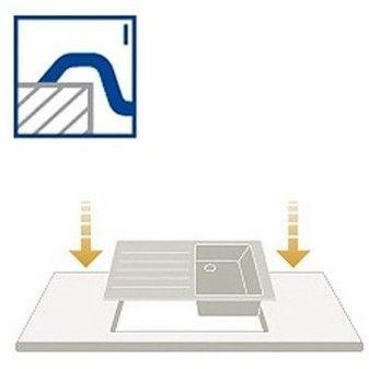 Architectura 50 Classicline V&B zlew ceramiczny 510x860 KM ivory (mat) - 3350 01 FU