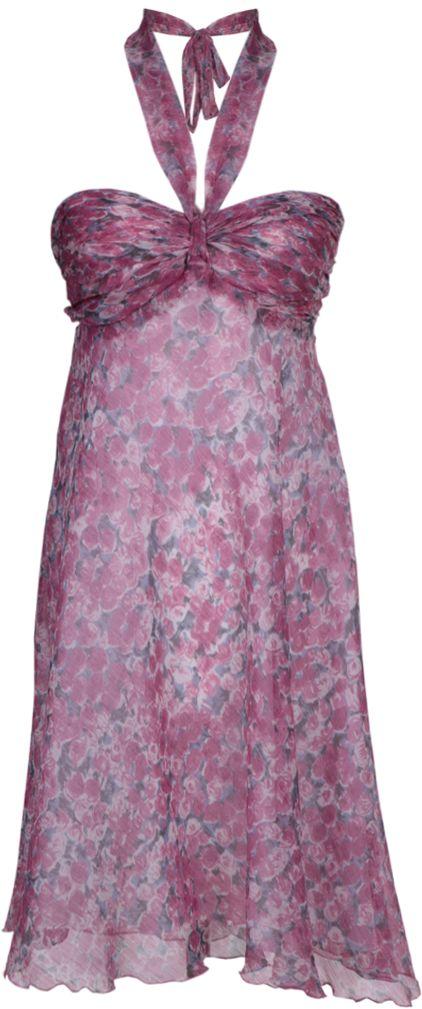 Sukienka FSU149 RÓŻOWY SZARY