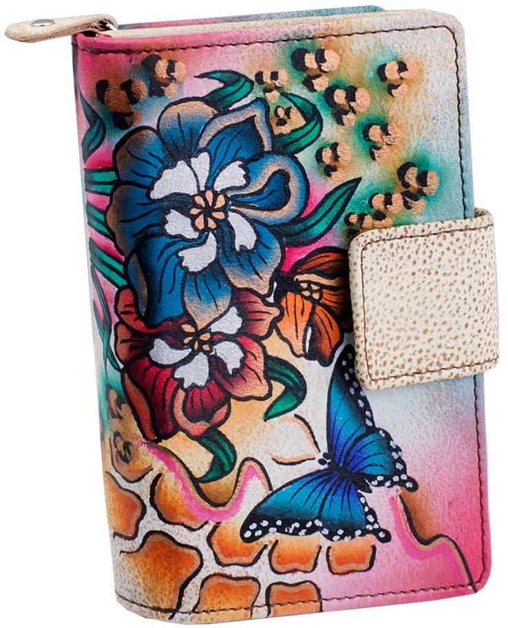 KOCHMANSKI skórzany portfel damski ręcznie malowany 4280