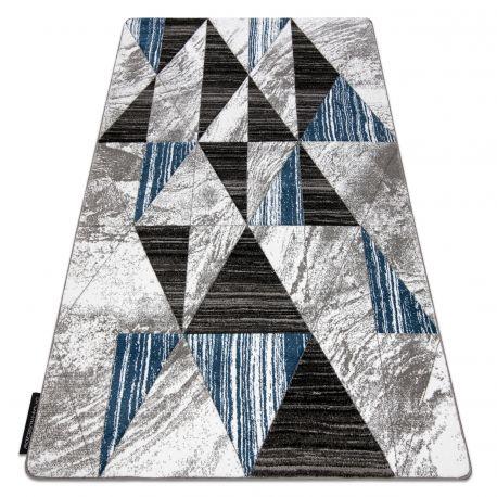 Dywan ALTER Nano Trójkąty niebieski 80x150 cm