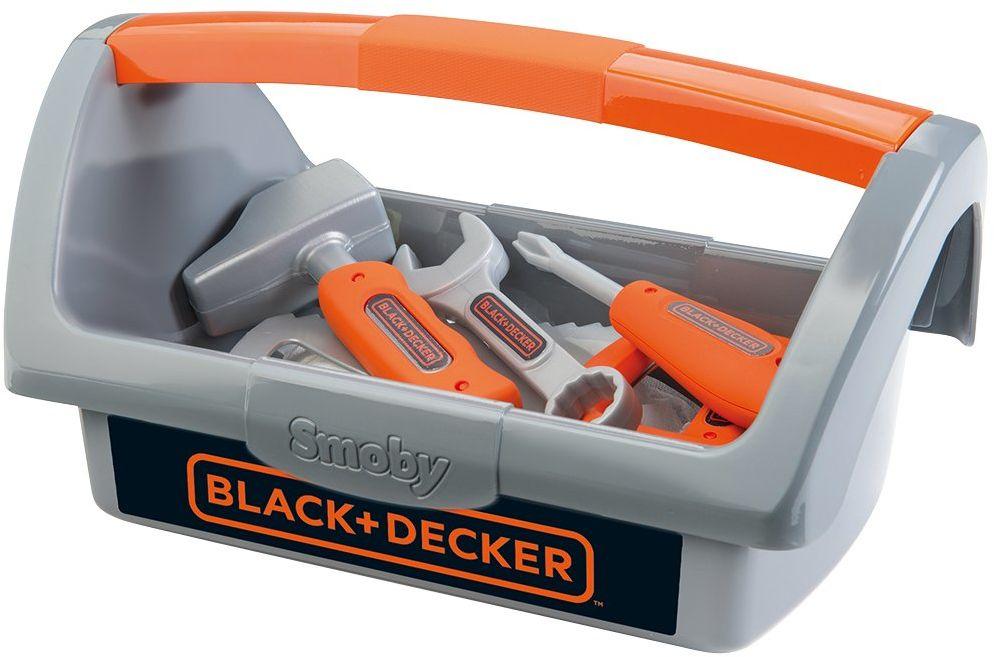 Smoby 7600360101 Black & Decker skrzynka na narzędzia, szara
