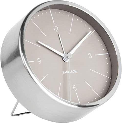 Karlsson Normann zegarek, zegar stołowy, stal, szary, jeden rozmiar