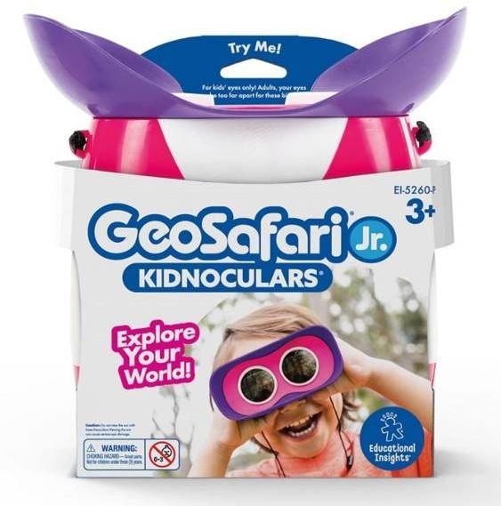 GeoSafari Jr. Lornetka dla dzieci, 2x ( różowa ) - Learning Resources
