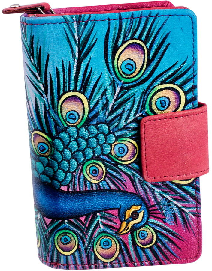 KOCHMANSKI skórzany portfel damski ręcznie malowany 4283