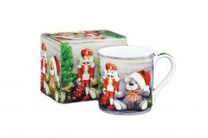 KUBEK PORCELANOWY Retro Christmas GWIAZDKOWY