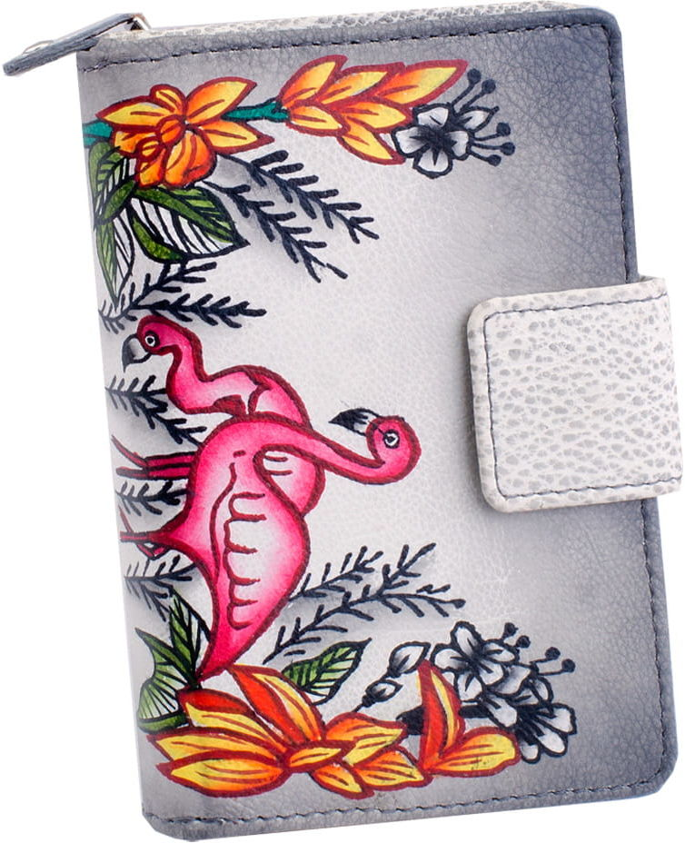 KOCHMANSKI skórzany portfel damski ręcznie malowany 4284