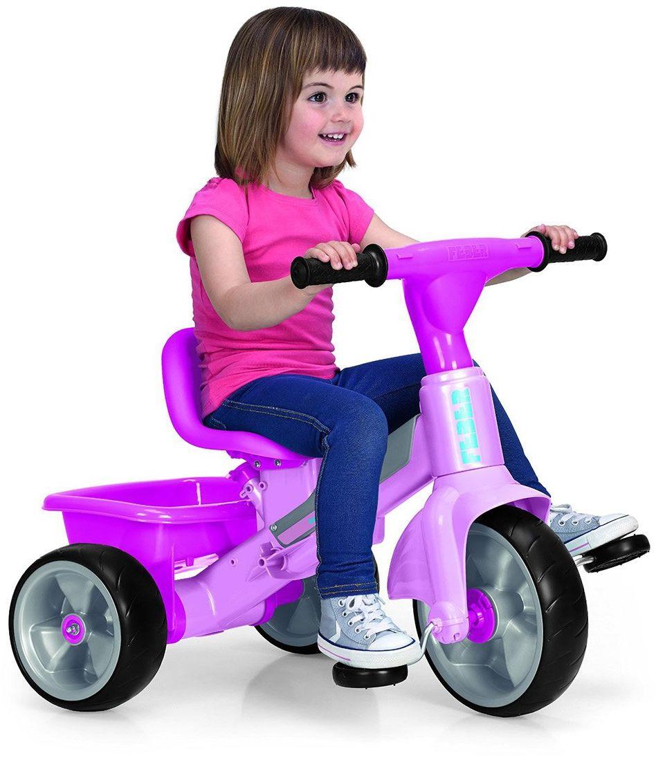 FEBER - Ewolucyjna trójkołowa zabawka muzyczna dla dziewczynek w wieku od 9 miesięcy do 3 lat, różowa (Famosa 800010210)