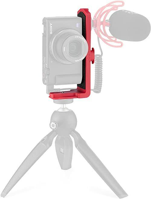 JOBY Vert 3K, uchwyt L do zdjęć i filmów, w połączeniu z zestawem GorillaPod 3K, statyw stołowy do kamer bezlusterkowych i CSC kamery, wideogowania, YouTuber i Tik Toker Content Creation