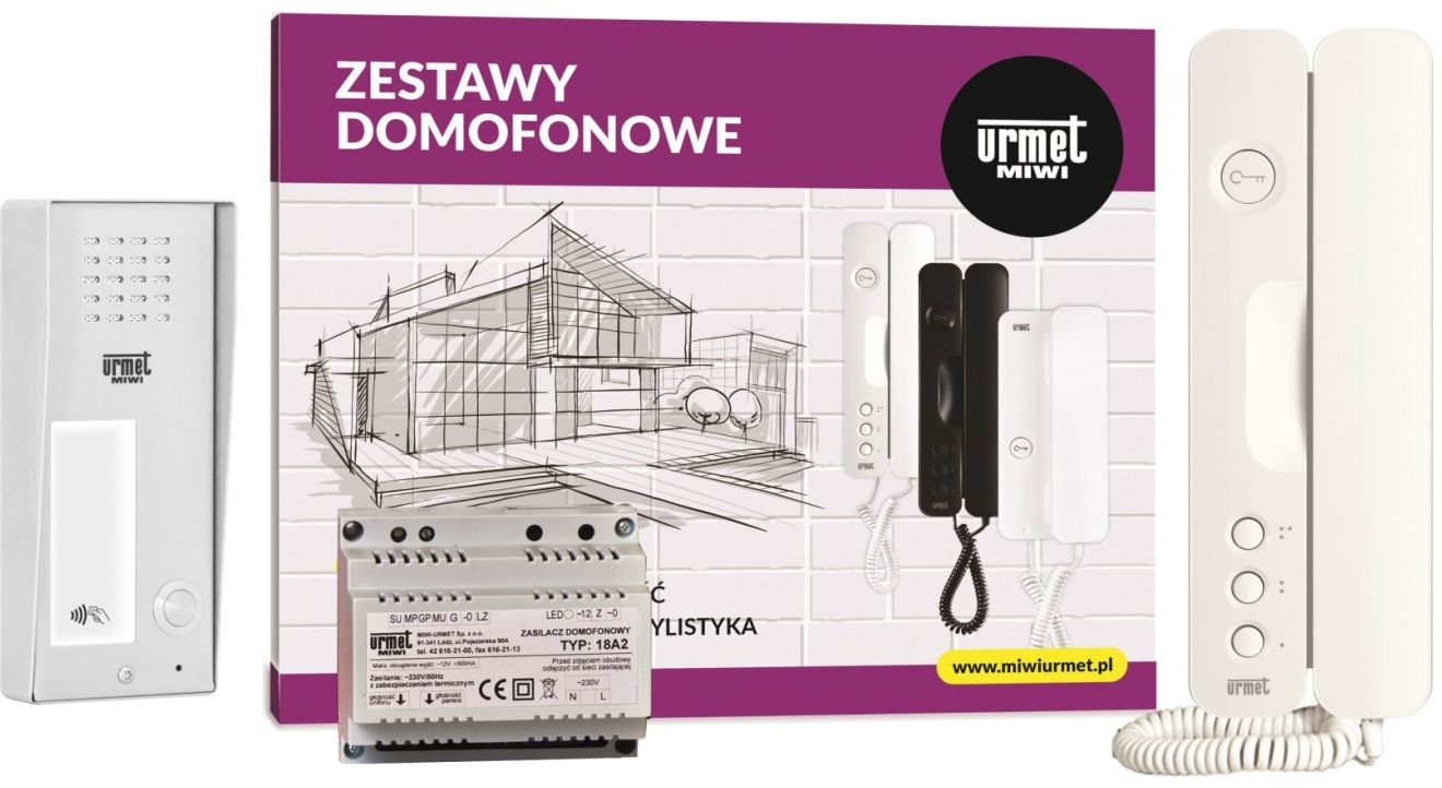 Zestaw domofonowy 6025/401-RF-N MIWI-URMET