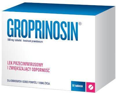 Groprinosin 500 mg 50 tabletek