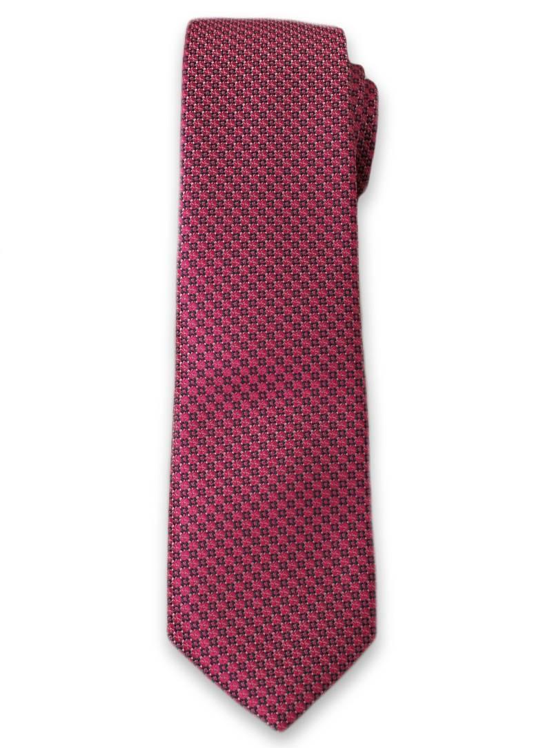 Stylowy Krawat Męski w Drobny Wzór i Delikatny Deseń - 6 cm - Alties, Różowy KRALTS0096