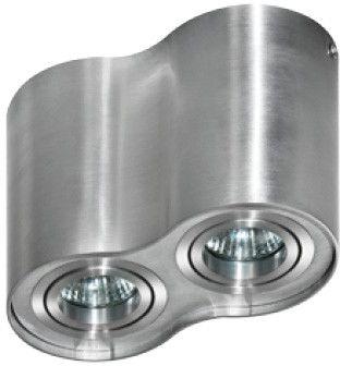 Plafon Bross 2 AZ0783 AZzardo podwójna oprawa w kolorze aluminium