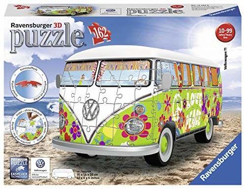 Puzzle Ravensburger 3D VW Camper Van Woodstock 50 lat