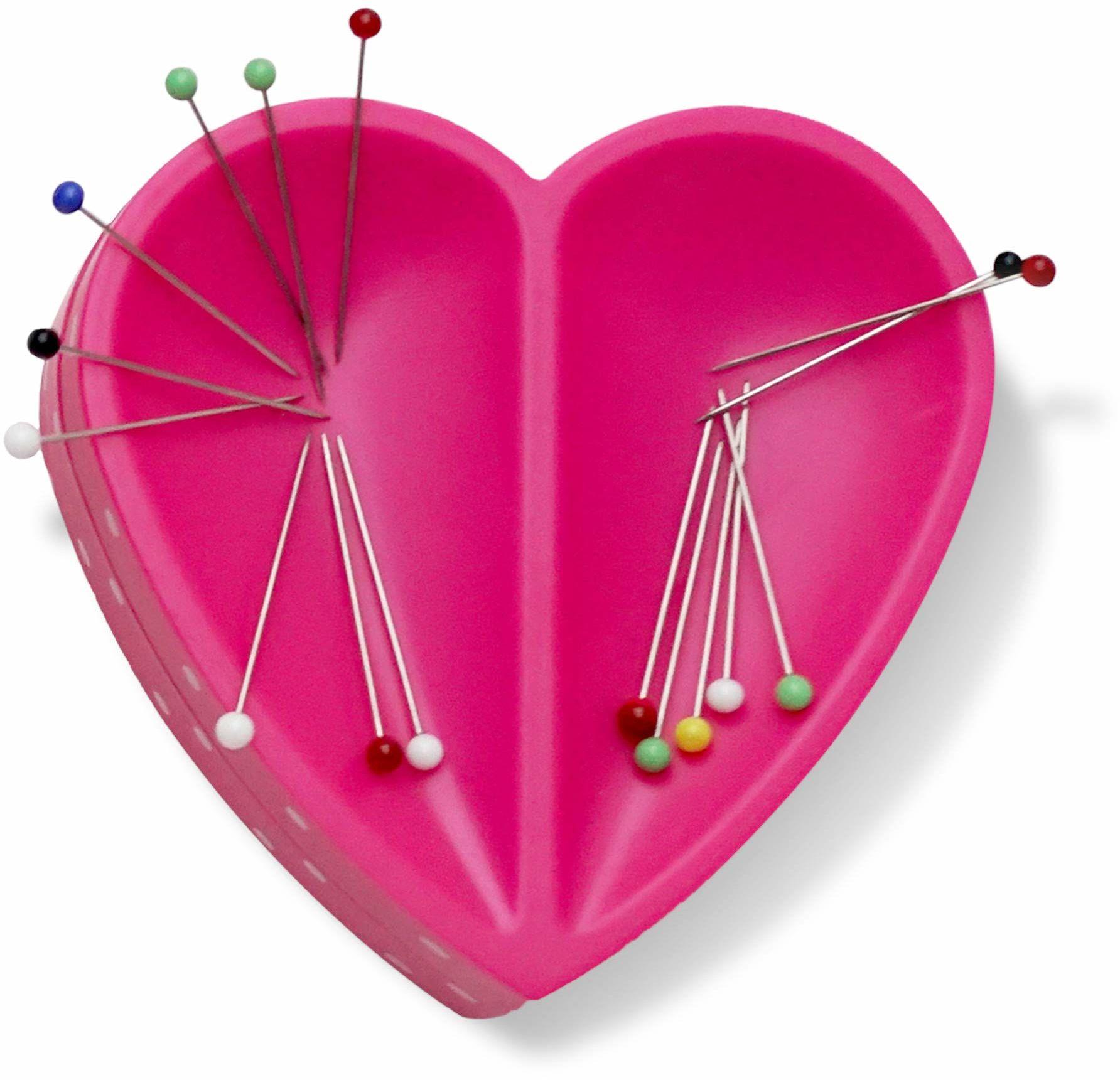 Prym 610284 Love serce poduszka na igłę magnetyczną, tworzywo sztuczne, różowa, one size
